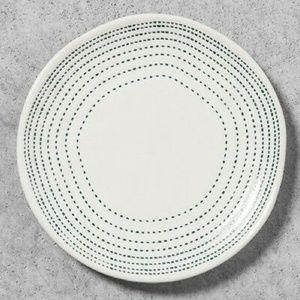 Hearth & Hand 2 Blue Dot Stitch Bread Plates